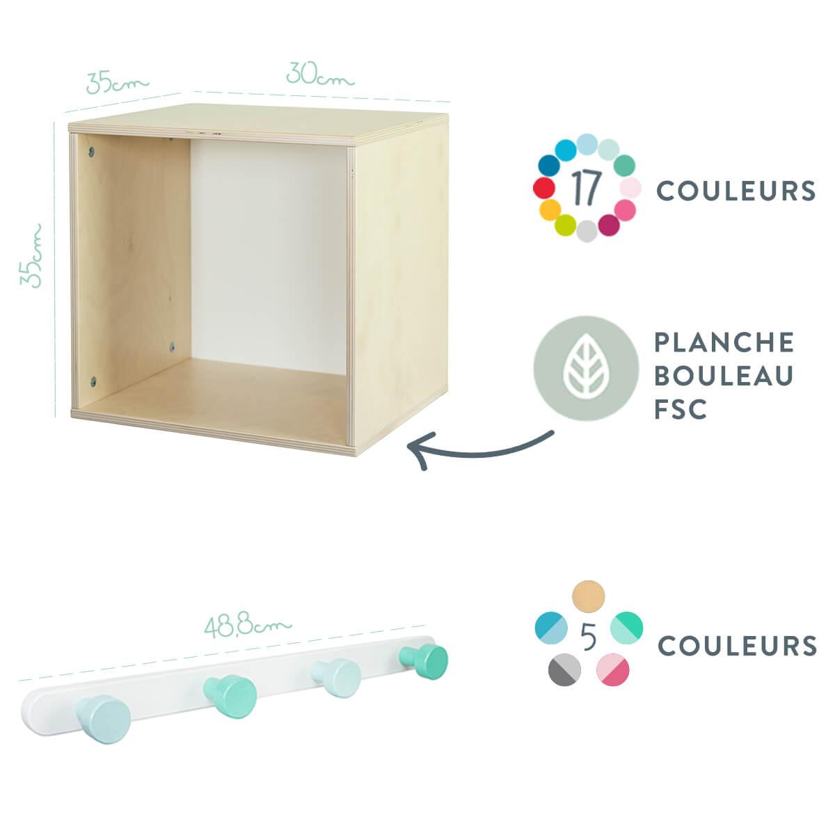 Armoire Murale Pour Chambre les accessoires rangement chambre enfant | colorflexa.k.